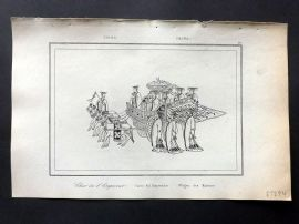 L'Univers C1850 Antique Print. Chariot of Emperor, China 35